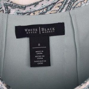 White House Black Market Skirts - White House Black Market Paisley Flirty Skirt Sz 8